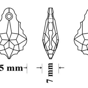 Engel Erzengel mit Swarovski® Elementen • 6090 22x15mm