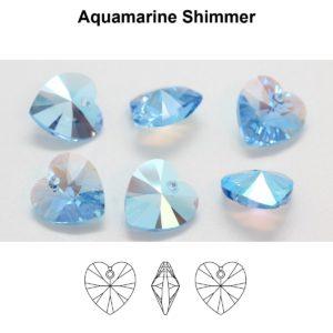 6228 Aquamarine Shimmer 1 300x300, Engel Erzengel mit Swarovski® Elementen