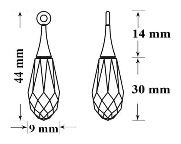 6530 65M001 44mm 63, Engel Erzengel mit Swarovski® Elementen