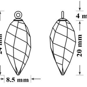 6540 65M002 24mm 50 300x300, Engel Erzengel mit Swarovski® Elementen