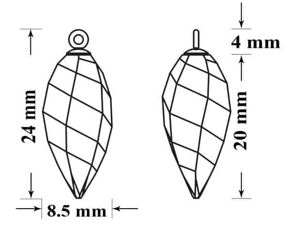 6540 65M002 24mm 50, Engel Erzengel mit Swarovski® Elementen