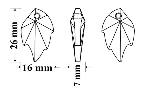 6735 26x16mm, Engel Erzengel mit Swarovski® Elementen