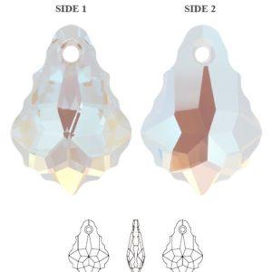 6090 Crystal Blue Ab 300x300, Engel Erzengel mit Swarovski® Elementen