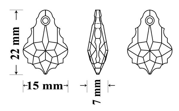 6090 22x15mm 3, Engel Erzengel mit Swarovski® Elementen