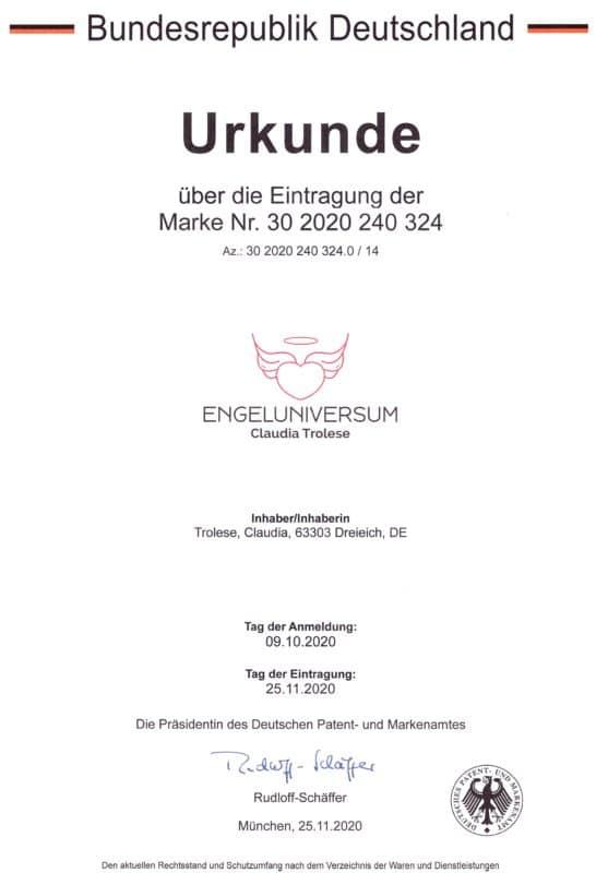 Urkunde2 1 546x800, Engel Erzengel mit Swarovski® Elementen