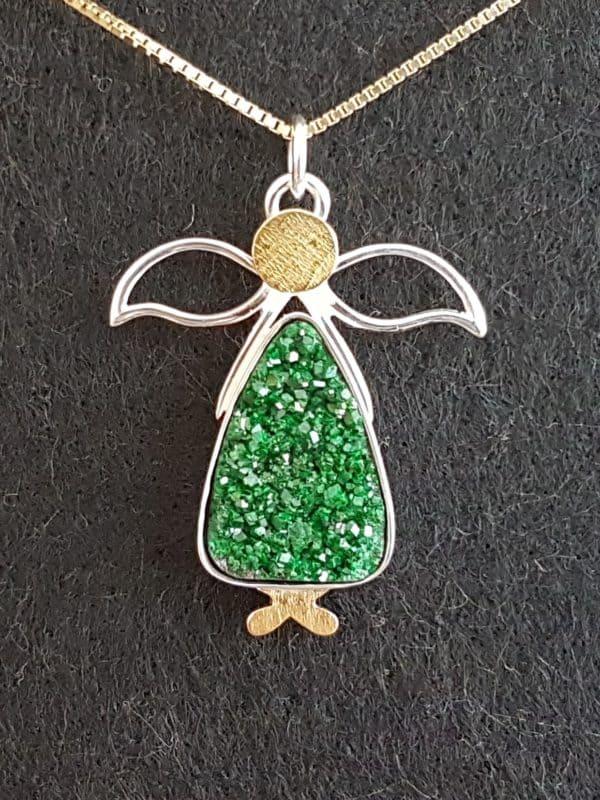 Engel grüner Glitzer