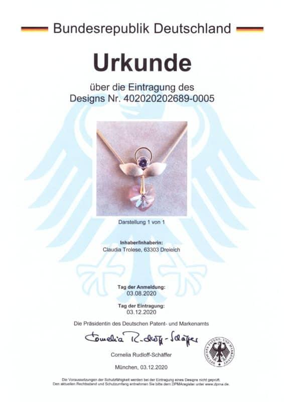 Engel Erzengel mit Swarovski® Elementen • Musterschutz Heiligenschein 1